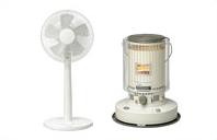 ストーブや扇風機などの冷暖房器具